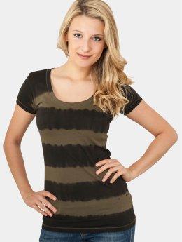 Urban Classics T-Shirt Dip Dye Stripe gris