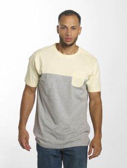 Urban Classics T-Shirt Color Block Summer Pocket gris