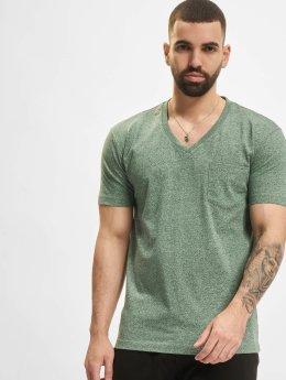 Urban Classics T-Shirt Melange Pocket grün