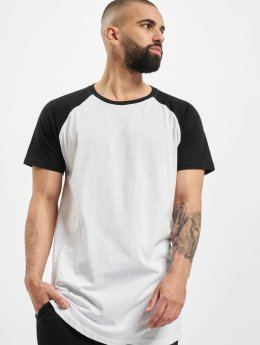 Urban Classics T-shirt long oversize Shaped Raglan Long blanc