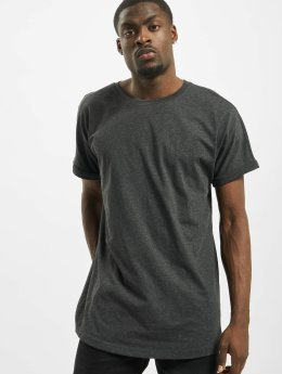 Urban Classics T-shirt long oversize Long Shaped Turnup gris