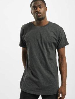Urban Classics T-shirt longoversize Long Shaped Turnup gris