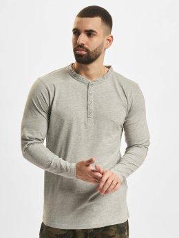 Urban Classics T-Shirt manches longues Basic Henley gris
