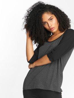 Urban Classics T-Shirt manches longues Ladies 3/4 Contrast Raglan noir