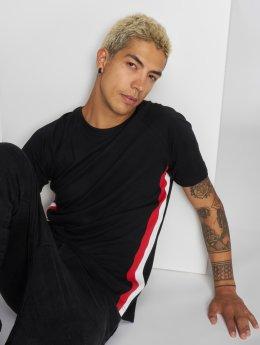 Urban Classics T-Shirt Side Stripe Raglan noir
