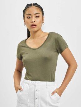 Urban Classics t-shirt Ladies Basic Viscose olijfgroen