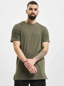Urban Classics t-shirt Pleat olijfgroen
