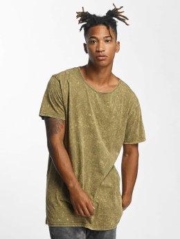 Urban Classics t-shirt Random Wash olijfgroen