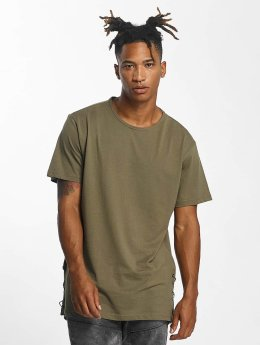 Urban Classics t-shirt Lace Up Long olijfgroen