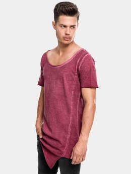 Urban Classics t-shirt Asymetric Long Spray Dye rood