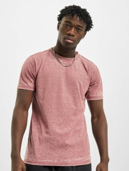 Urban Classics T-Shirt Stripe Burn Out rot