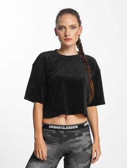 Urban Classics T-Shirt Velvet Short Kimono schwarz