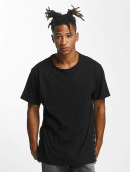 Urban Classics T-Shirt Lace Up Long schwarz