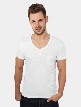 Urban Classics T-Shirt Slub Henley weiß