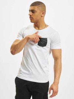 Urban Classics T-Shirt Leather Imitation Pocket weiß