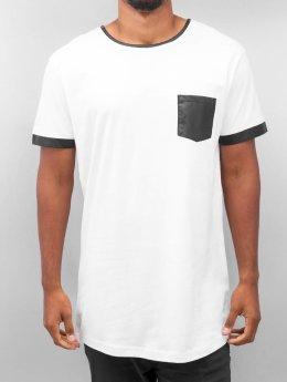 Urban Classics T-Shirt Long shaped Leather Imitation weiß