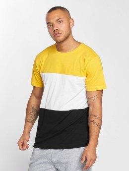 Urban Classics t-shirt Color Block zwart