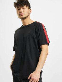 Urban Classics t-shirt Stripe Raglan zwart