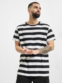 Urban Classics t-shirt Block Stripe zwart