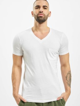 Urban Classics T-shirts Pocket hvid