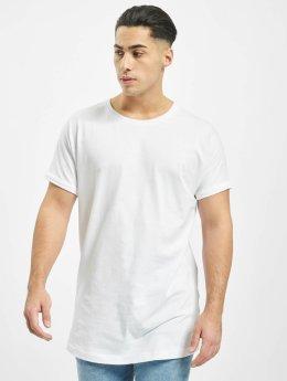 Urban Classics T-shirts Long Shaped Turnup hvid