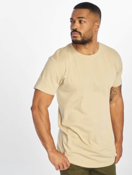 Urban Classics T-Shirty Shaped Long bezowy