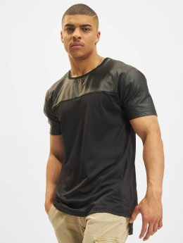 Urban Classics T-Shirty Football Mesh Long czarny