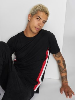 Urban Classics T-Shirty Side Stripe Raglan czarny