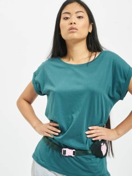 Urban Classics T-Shirty Extended Shoulder turkusowy