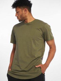 Urban Classics T-skjorter Shaped Long oliven