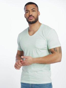 Urban Classics T-skjorter Melange Pocket turkis