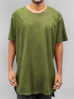 Urban Classics Tall Tees Long Back Shaped Spray Dye olive