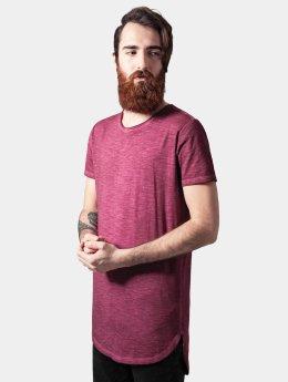 Urban Classics Tall Tees Long Back Shaped Spray Dye punainen