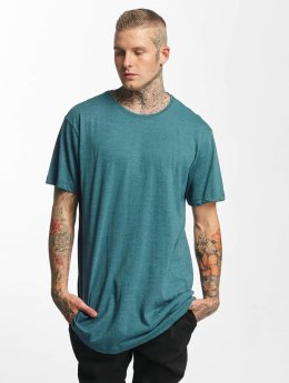 Urban Classics Tall Tees Shaped Melange Oversized Long turkusowy