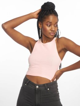 Urban Classics Frauen Tank Tops Cropped Rib in rosa