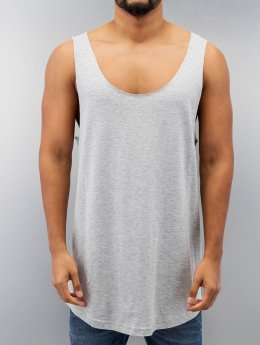 Urban Classics Tanktop Long Shaped Open Edge Loose grijs
