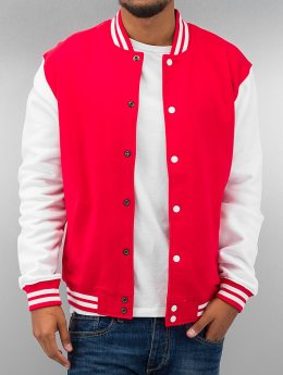Urban Classics Teddy 2-Tone College Sweatjacket  rouge