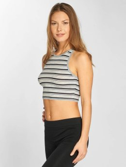 Urban Classics Top Rib Stripe Cropped grau
