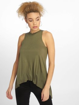 Urban Classics top Ladies HiLo Viscose olijfgroen