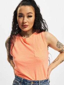 Urban Classics top Ladies Sleevelss Pocket oranje