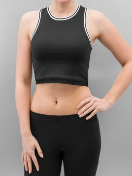 Urban Classics Top Ladies Tech Cropped schwarz