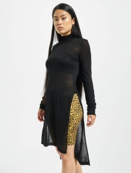 Urban Classics trui Urban Classics Ladies Fine Knit Turtleneck Long Shirt zwart