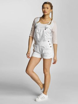Urban Classics Tuinbroek Ladies Short wit