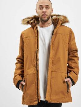 Urban Classics Ulkotakit Heavy Cotton Imitation Fur ruskea