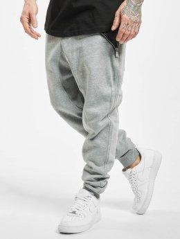 Urban Classics Verryttelyhousut Side Zip Leather Pocket harmaa