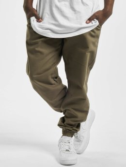 Urban Classics Verryttelyhousut Washed Canvas oliivi