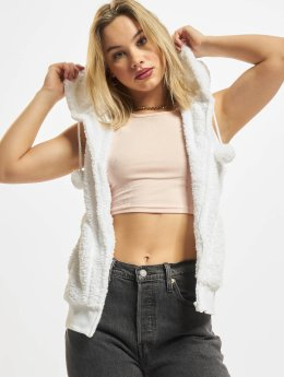 Urban Classics Vest Ladies Teddy white