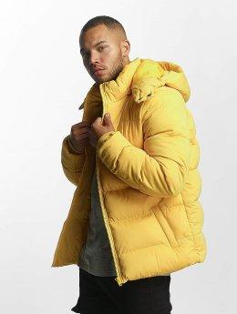 Urban Classics Veste matelassée Hooded Boxy Puffer jaune