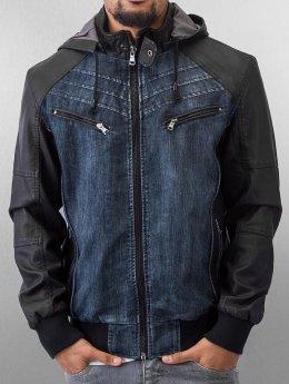 Urban Classics Veste mi-saison légère Hooded Denim bleu