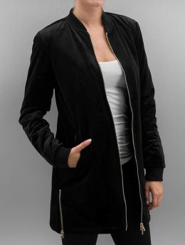 Urban Classics Veste mi-saison légère Ladies Long Velvet noir
